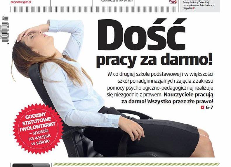 Praca za darmo – wyniki ogólnopolskiego badania ZNP