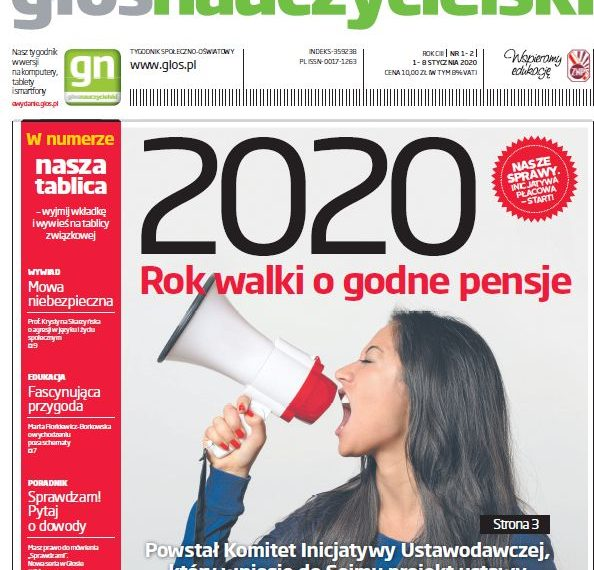 Głos: 2020. Rok walki o godne pensje