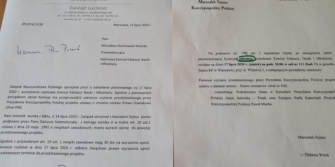 Sejm po naszym apelu odwołuje procedowanie ustawy prezydenckiej w najbliższy piątek