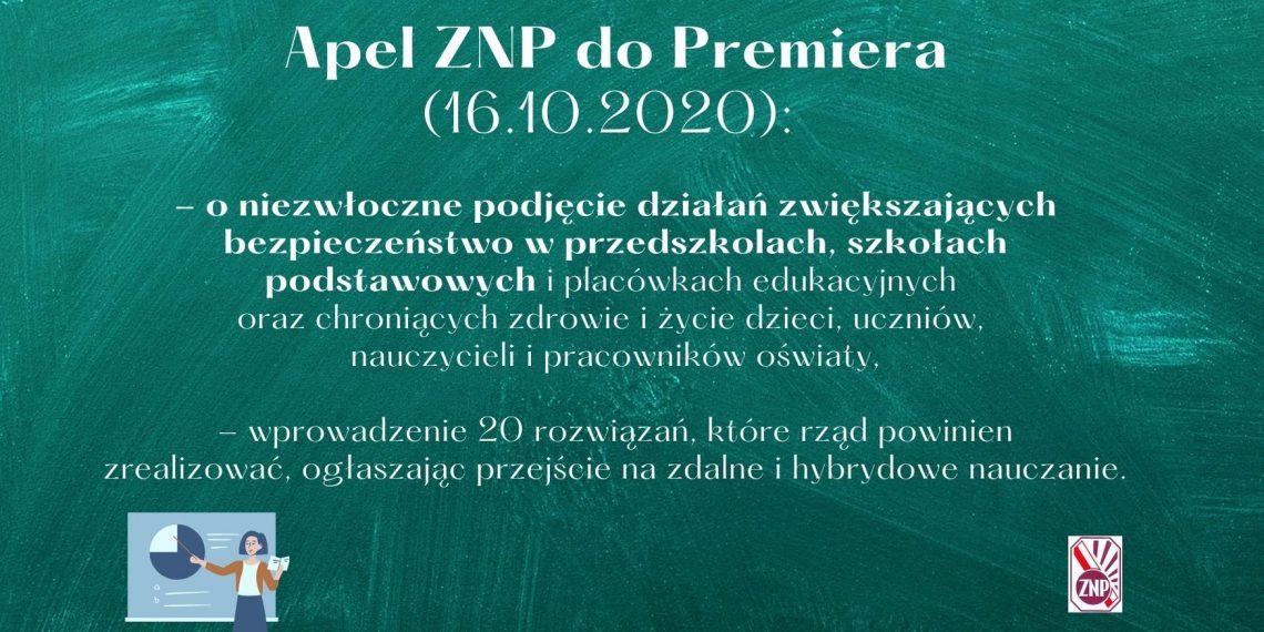 Apel ZNP do premiera dot. bezpieczeństwa w przedszkolach i podstawówkach