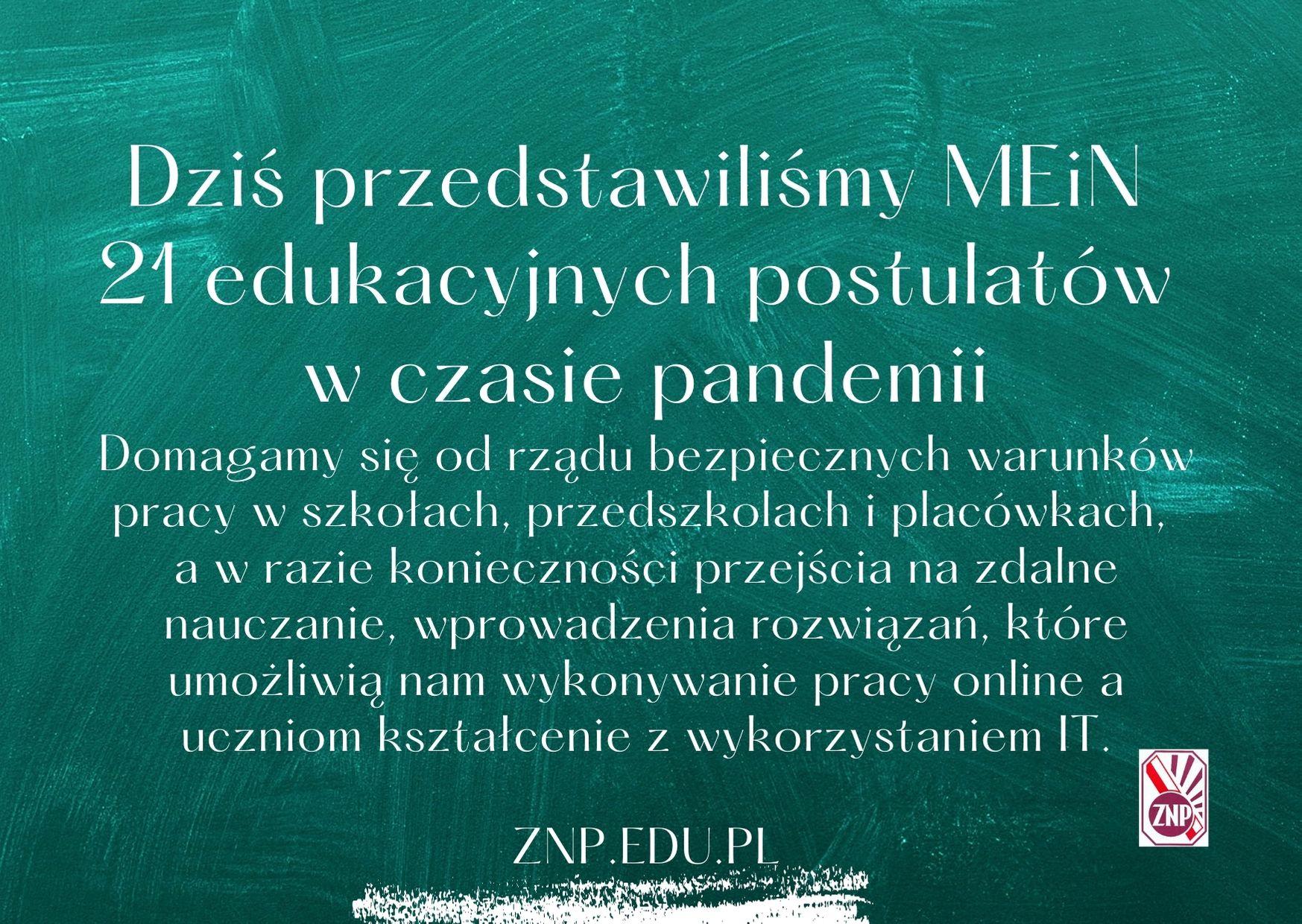 Po spotkaniu MEiN – ZNP: Decyzje ws. szkół jutro