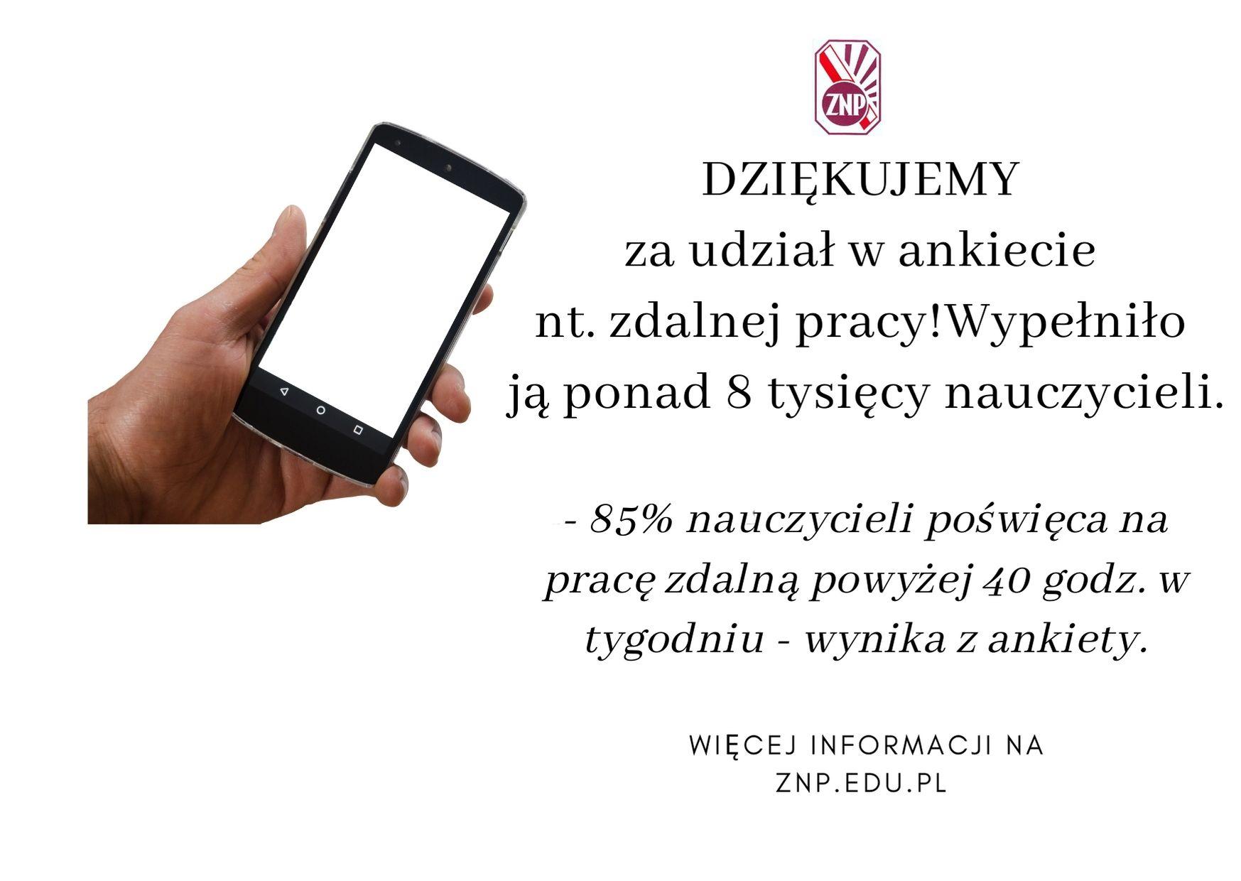 Wyniki ankiety ZNP nt. warunków zdalnej edukacji i pracy