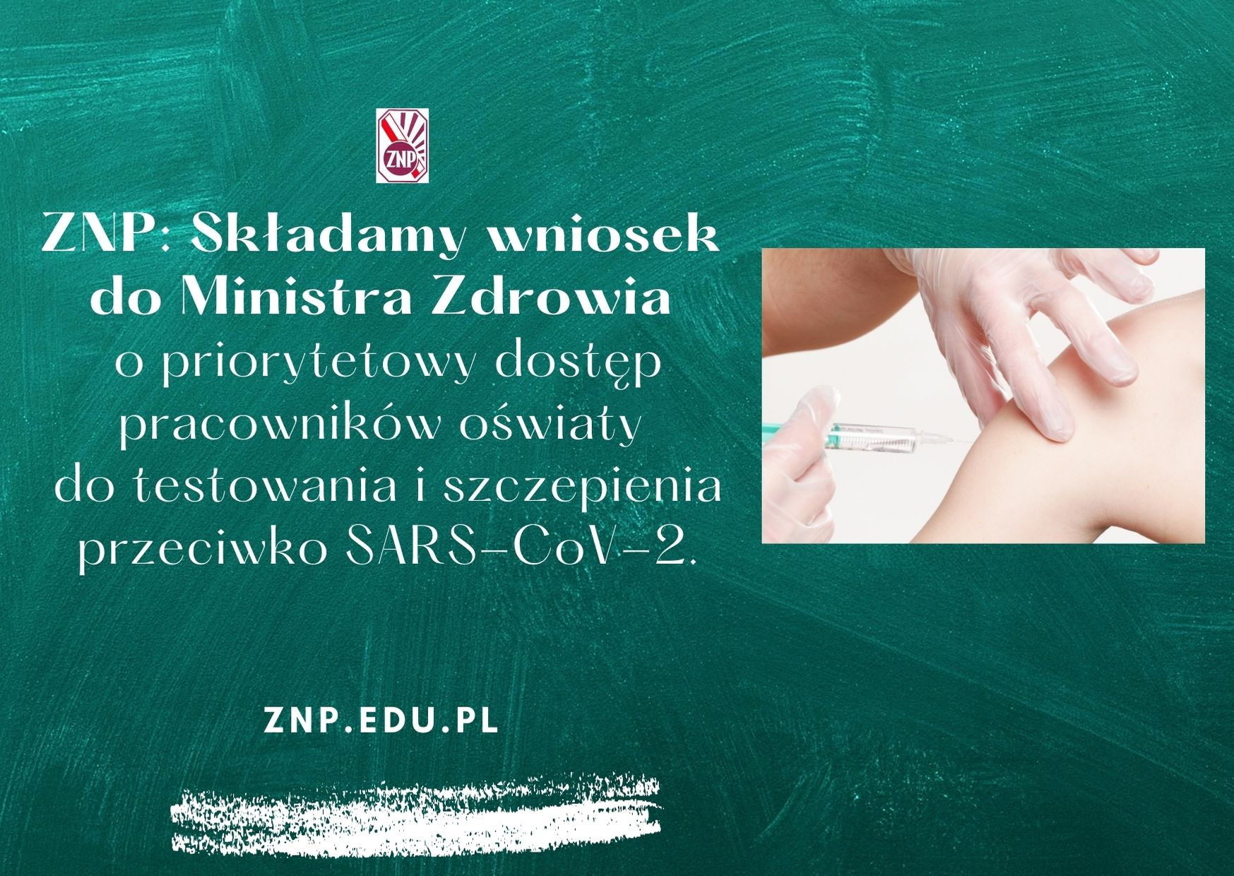 Wniosek ZNP do MZ o dostęp do testowania i szczepienia przeciwko SARS-CoV-2