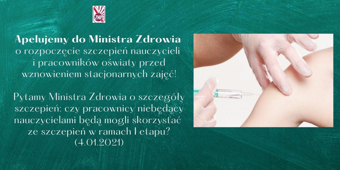 Pytamy Ministra Zdrowia o szczegóły szczepień