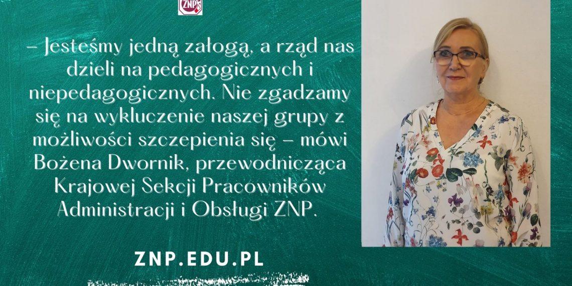 Przewodnicząca Krajowej Sekcji PAiO ZNP: Jesteśmy jedną załogą, a rząd nas dzieli