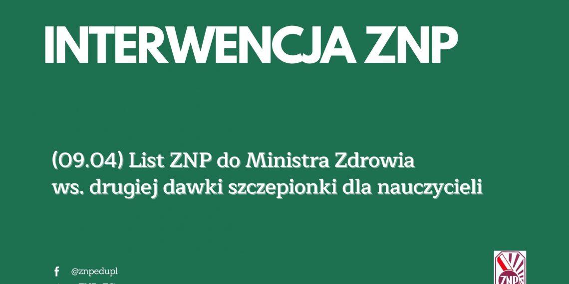 Szczepienia: List ZNP do MZ ws. drugiej dawki